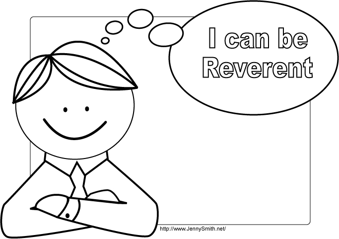 can reverent lds clip art library coloring the bill of rights painting summer for kids coloring pages I Can Be Reverent Coloring Page