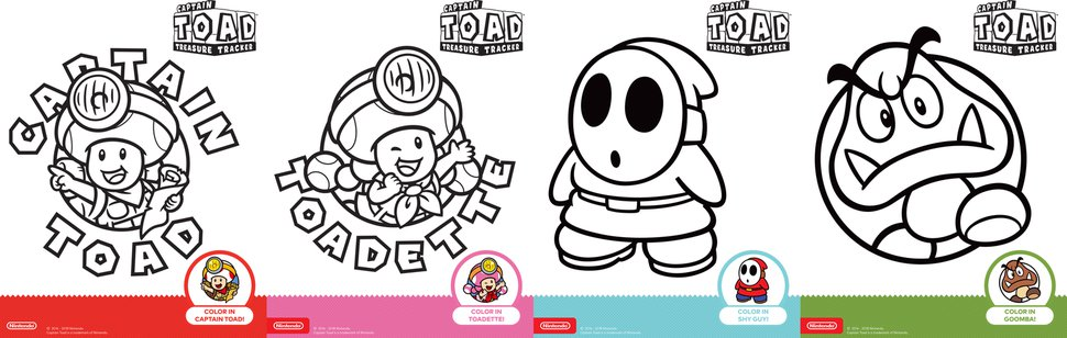 captain toad printable coloring play nintendo sheet effle tower poage space science coloring pages Nintendo Coloring Page