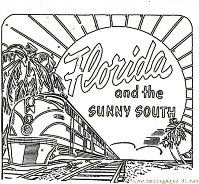 card from coloring for kids free printable coloringpages101 cardfromflorida jkkkf coloring pages Florida Coloring Page