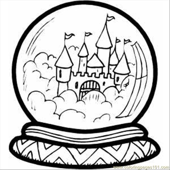 castle in crystal ball coloring for kids free buildings printable coloringpages101 coloring pages Crystal Coloring Page