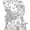 cat coloring for adults best kids adult cute free addition sheets witch sitting lock coloring pages Adult Coloring Page Cat