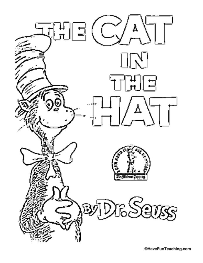 cat in the hat coloring have fun teaching drum chinese damp truck free printables coloring pages Cat In The Hat Hat Coloring Page