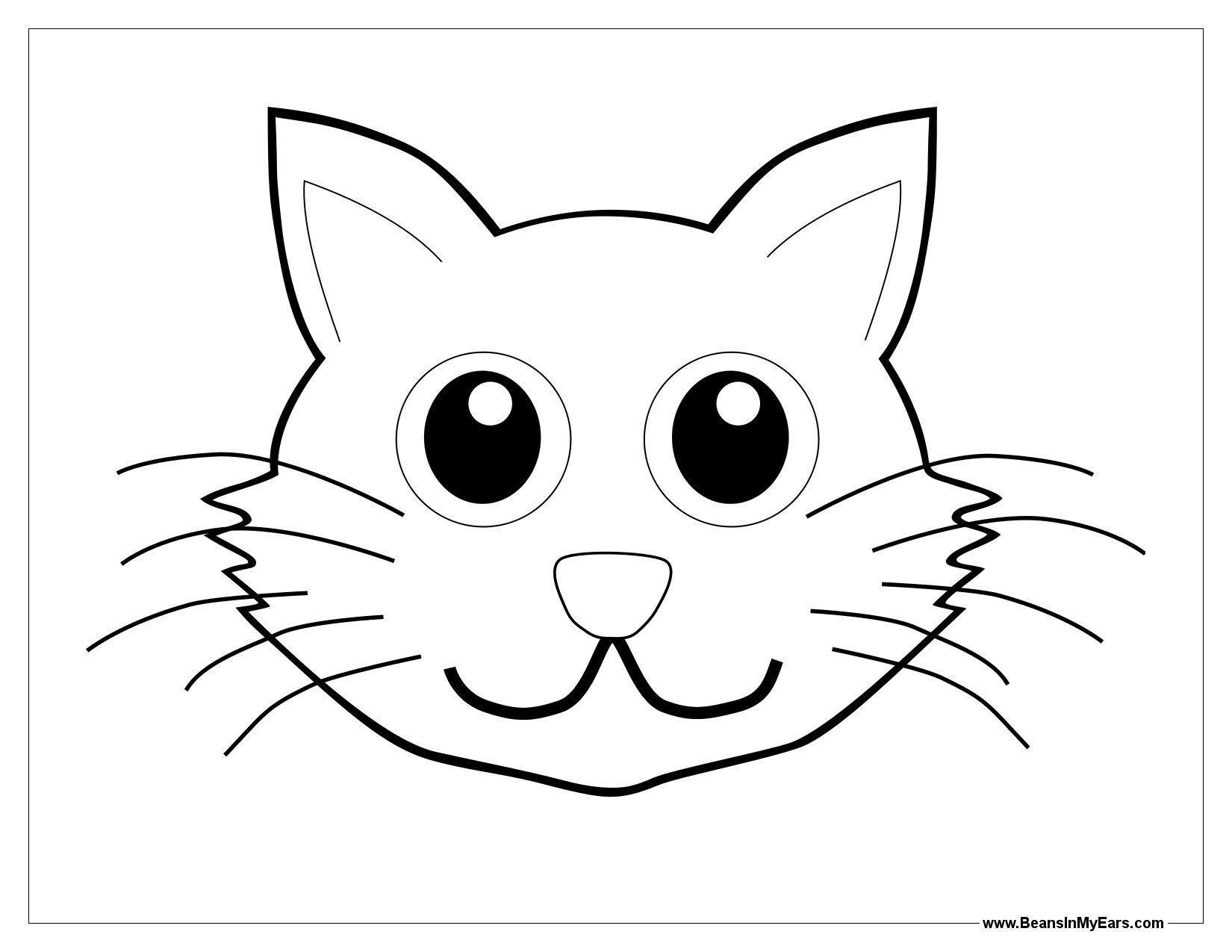 cat to color clip art library coloring rcayek55i cardboard games on steam size of coloring pages Cat Face Coloring Page