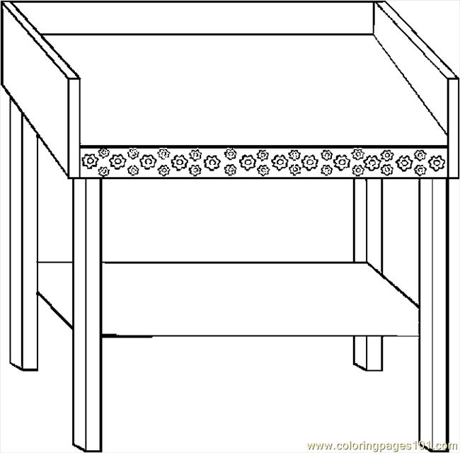changing table coloring for kids free others printable coloringpages101 xqytd cats coloring pages Table Coloring Page