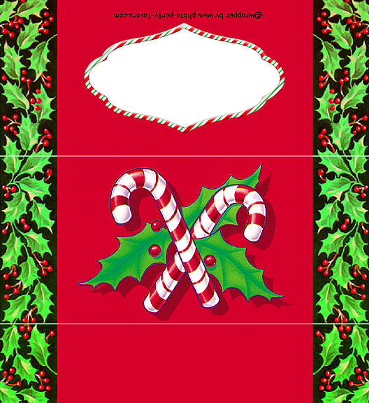 christmas candy canes and holly bar wrapper free printable chocolate wrappers black coloring pages Free Printable Christmas Candy Bar Wrappers