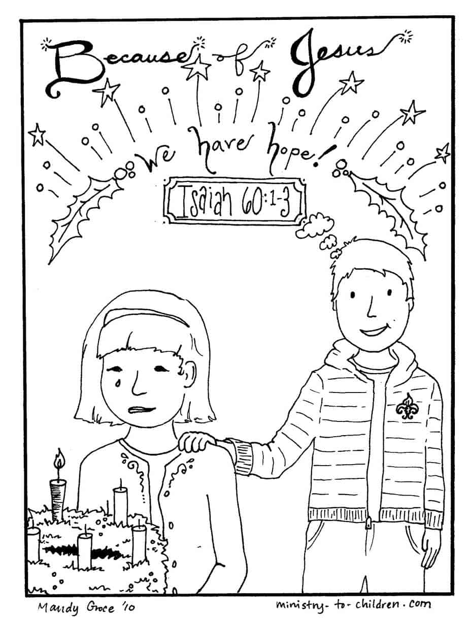 christmas coloring jesus gives hope free printable math sheets teens frozen inspiration coloring pages Hope Coloring Page