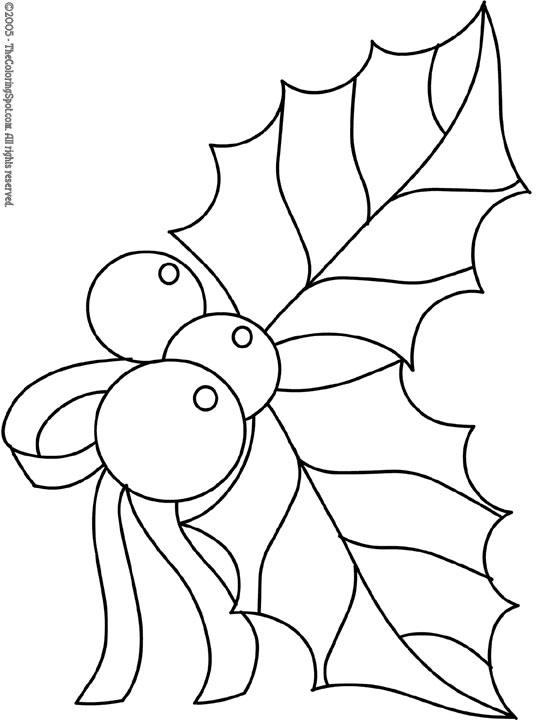 christmas holly coloring audio stories for kids free colouring printables holly2 dalai coloring pages Holly Coloring Page