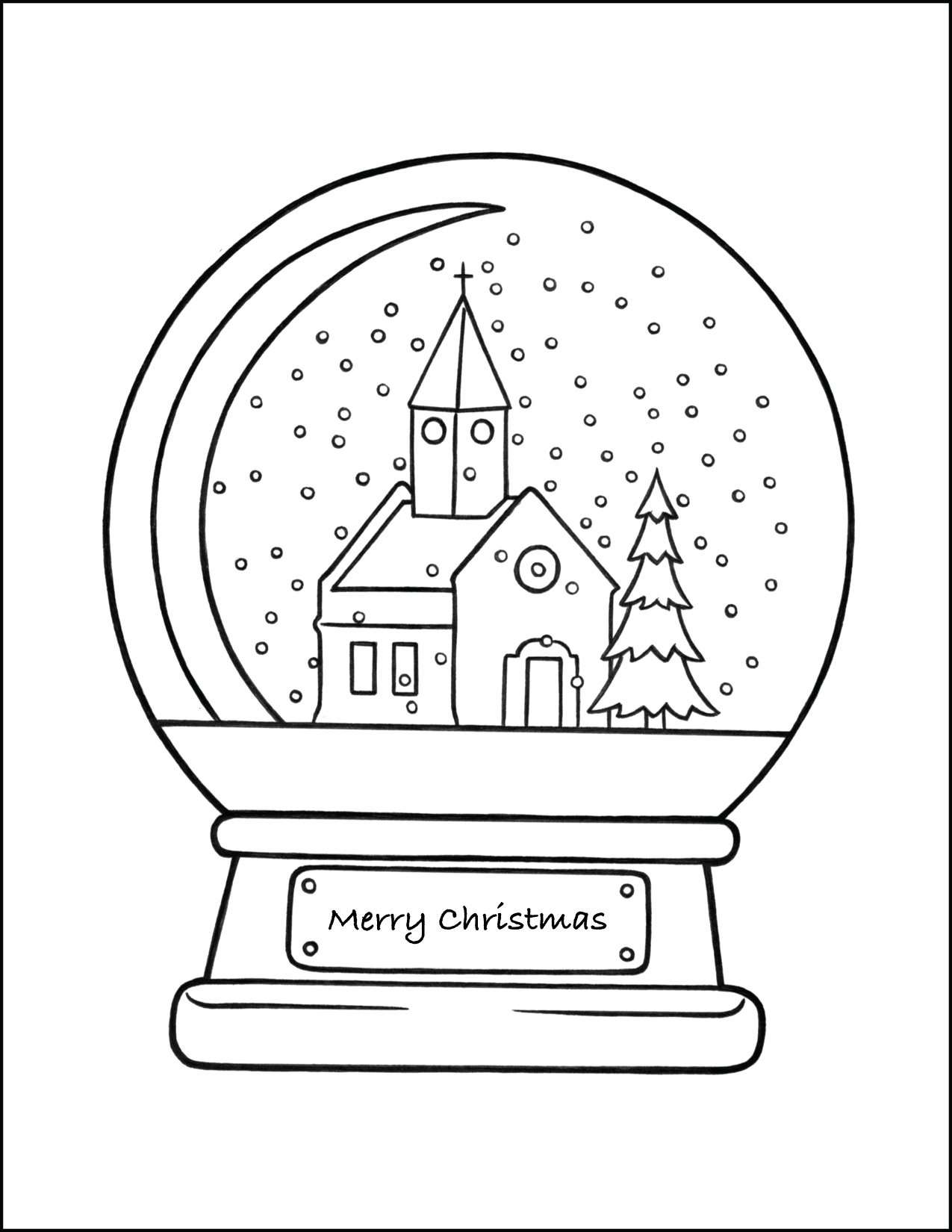 christmas snow globe coloring snowglobe cnt mls books in bulk halloween cards to make coloring pages Snow Globe Coloring Page