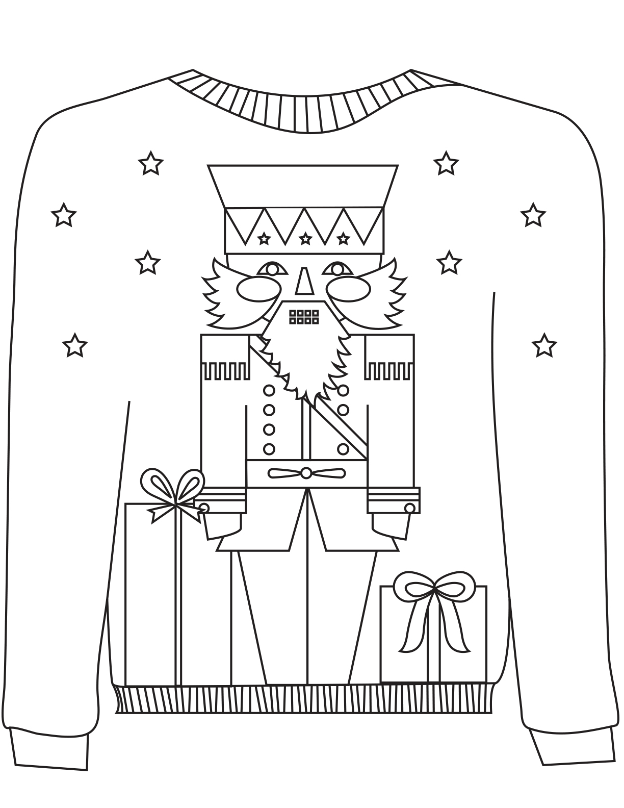 christmas sweater colouring mum in the madhouse coloring nut neon school supplies craft coloring pages Ugly Christmas Sweater Coloring Page