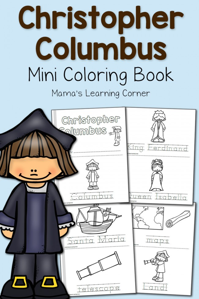 christopher coloring mamas learning corner 650x975 virtual fashion designer free coloring pages Christopher Columbus Coloring Page