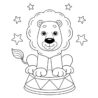 circus coloring stock illustrations vectors clipart dreamstime outline lion book kids kid coloring pages Circus Coloring Page