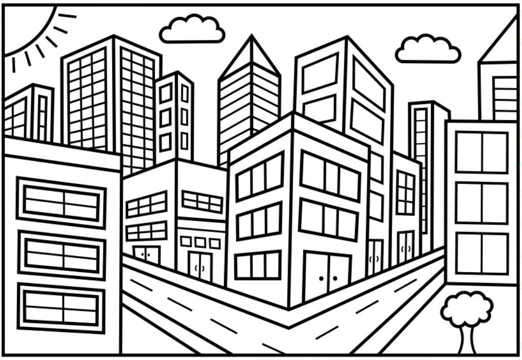 city coloring best for kids perspective truman slogan madalorina rt creative activties coloring pages City Coloring Page