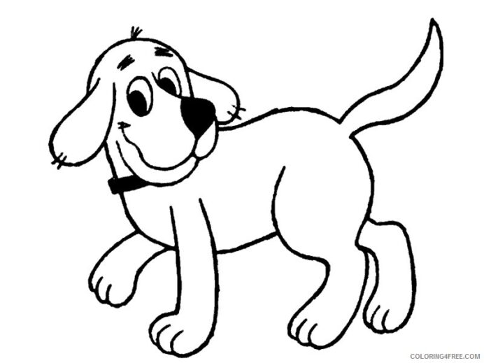clifford the big red dog coloring cartoons printable coloring4free color art definition coloring pages Clifford Coloring Page