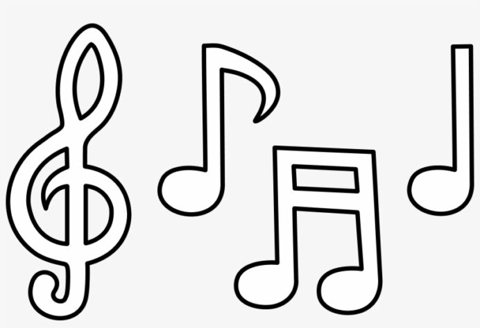 clip library free printable note coloring colour in music notes 5355x3407 pngkit musical coloring pages Musical Note Coloring Page