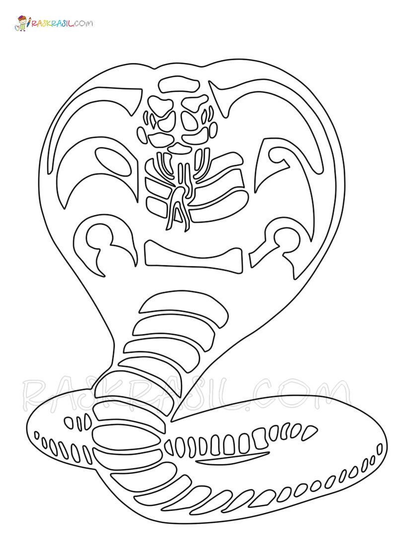 cobra kai coloring new images free printable raskrasil names for skin colors sheep canary coloring pages Cobra Coloring Page