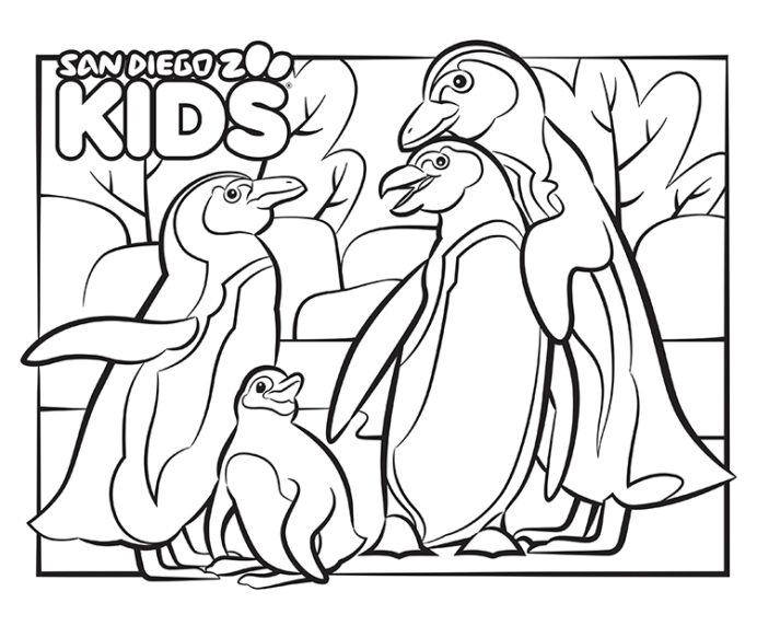 coloring african penguins san diego zoo kids penguin thumb dry erase markers chisel tip coloring pages Coloring Page Penguin