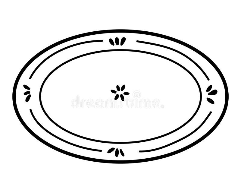 coloring book plate stock vector illustration of children things to color when bored coloring pages Plate Coloring Page
