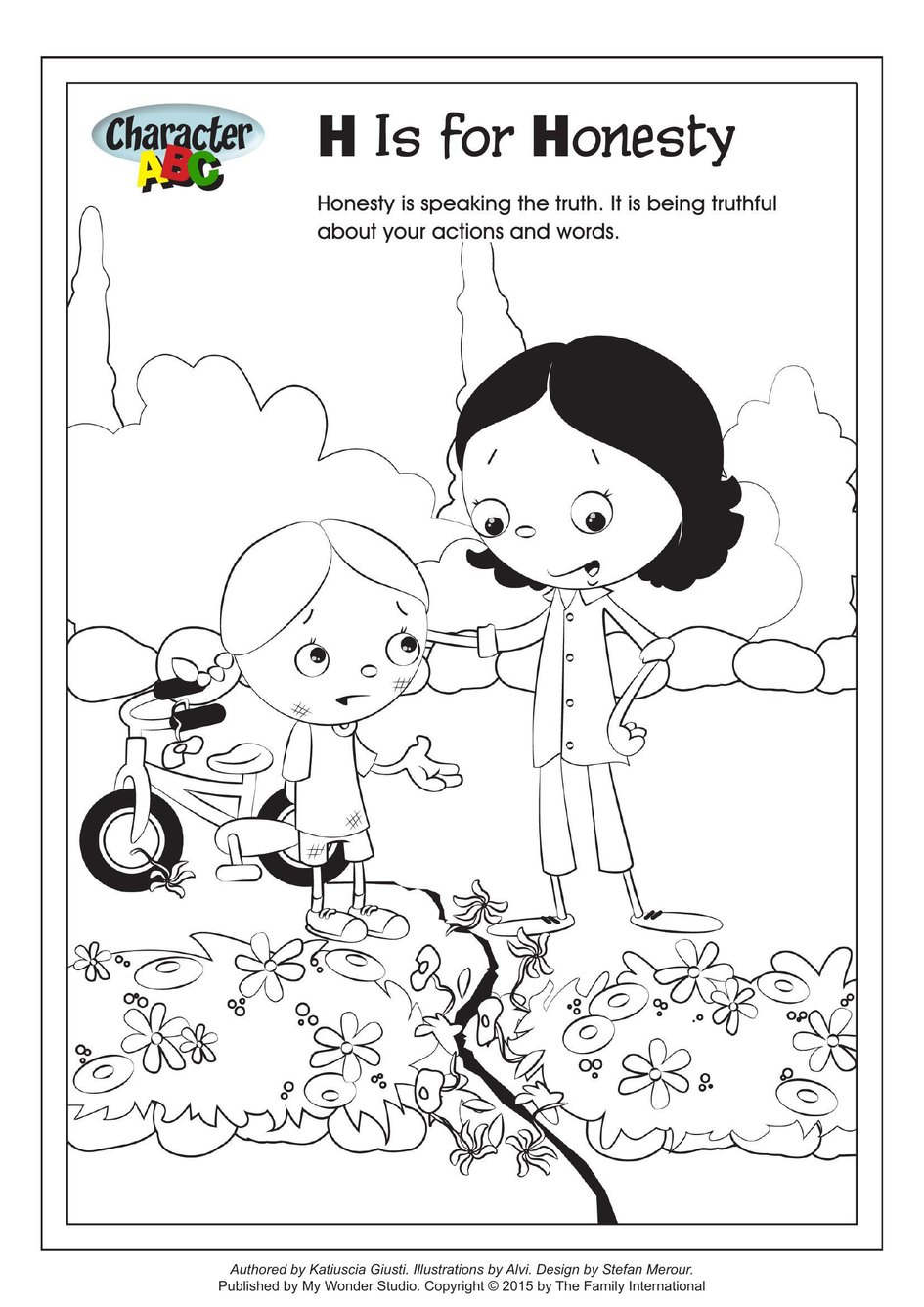 coloring character is for honesty my wonder studio width book disney easy quilt art coloring pages Honesty Coloring Page