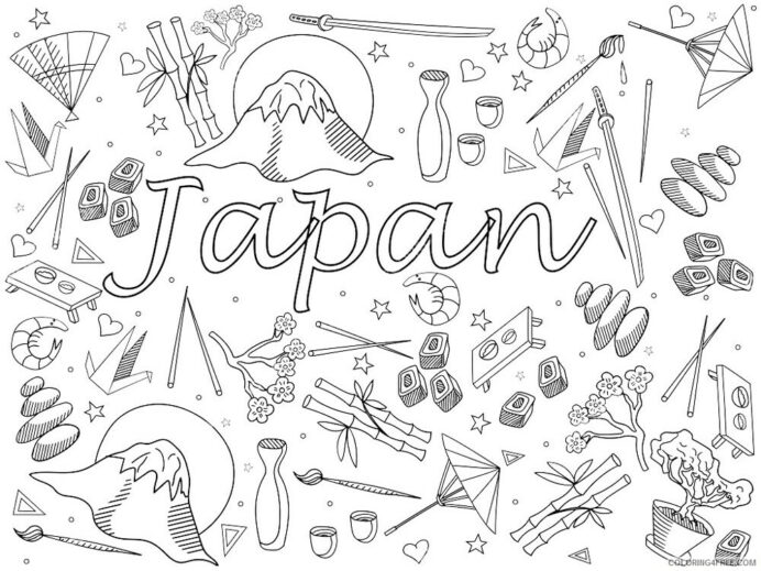 coloring countries of the world educational printable coloring4free pumkin patch fun for coloring pages Japan Coloring Page