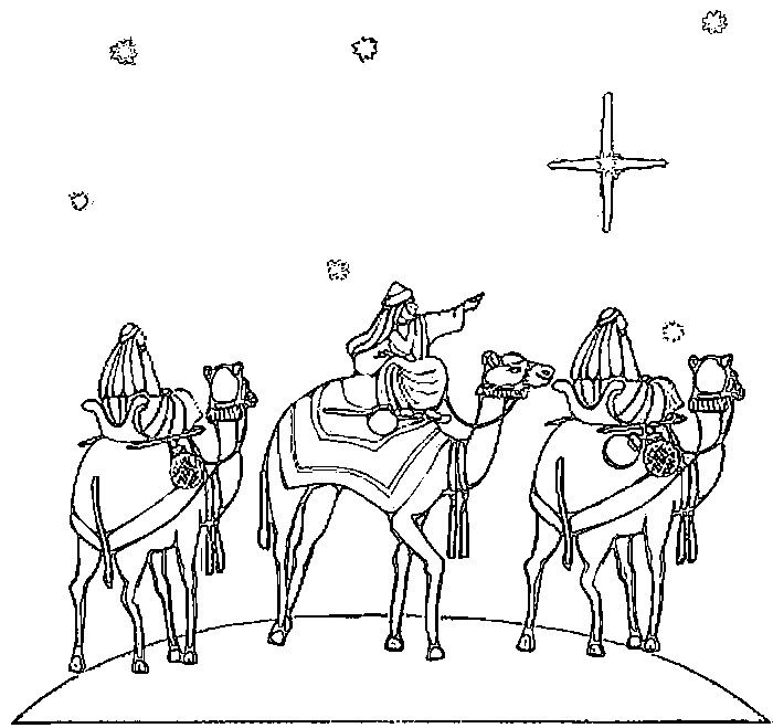 coloring epiphany train comets color number2 pencils double sided markers pictures easy coloring pages Epiphany Coloring Page
