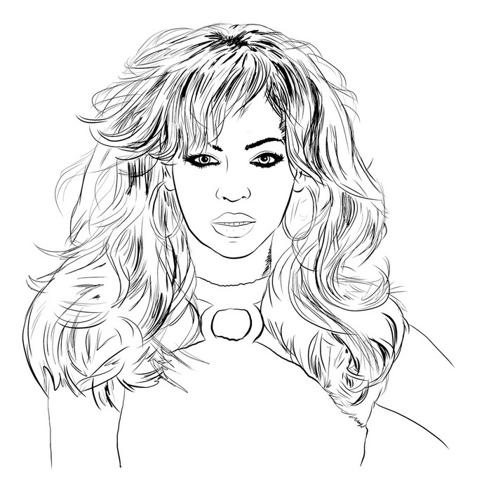 coloring famous people morning kids beyonce paint sets for children bulk markers orchaid coloring pages Beyonce Coloring Page