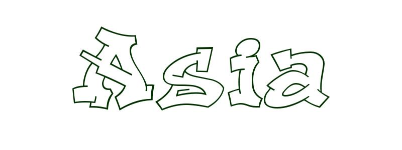 coloring first name asia rockets to color super cool outline crayola experiance christmas coloring pages Asia Coloring Page