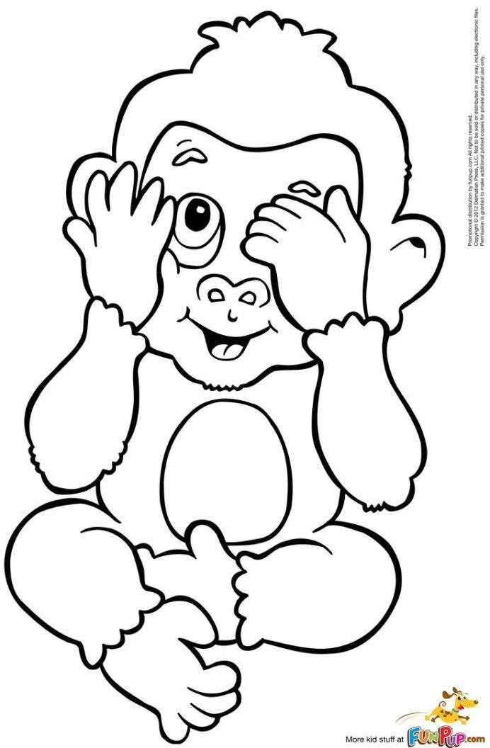 coloring for adults baby monkey peepsburgh frozen movie arts and crafts toxic crayons coloring pages Coloring Page Monkey