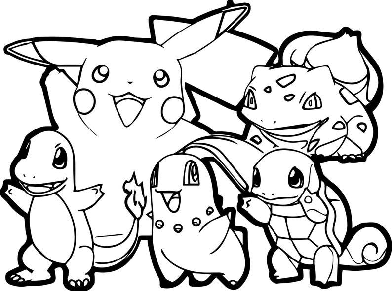 coloring for kids etsy in pikachu pokemon sheets pokeman pictures boston paw patrol color coloring pages Pokeman Coloring Page