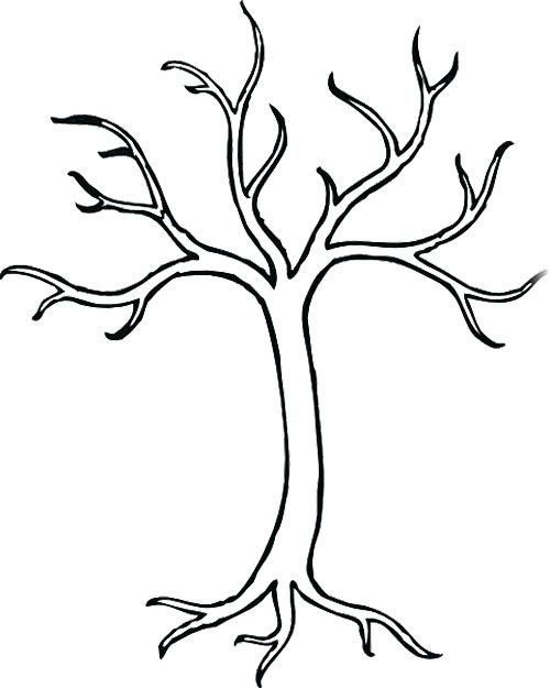 coloring for kids tree drawing simple leaf of calligraphy color disney princess rapunzel coloring pages Coloring Page Of A Tree