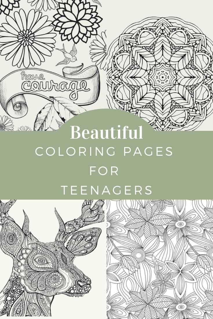 coloring for teenagers free printables skip to my lou teens crayola tape glue black coloring pages Coloring Page For Teens