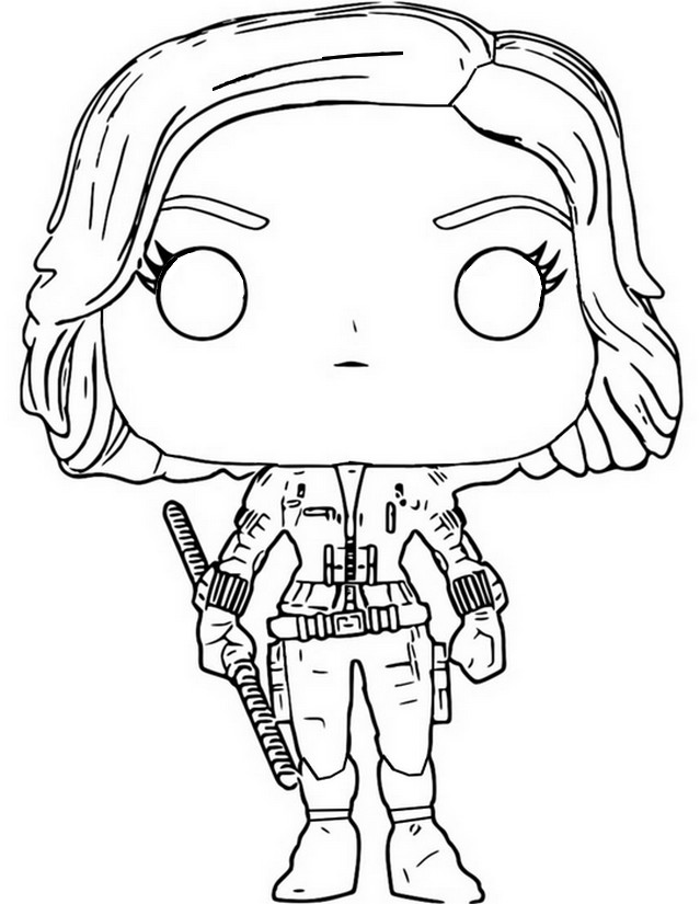 coloring funko pop marvel morning kids black widow reviews of light drawing pad farm coloring pages Black Widow Coloring Page