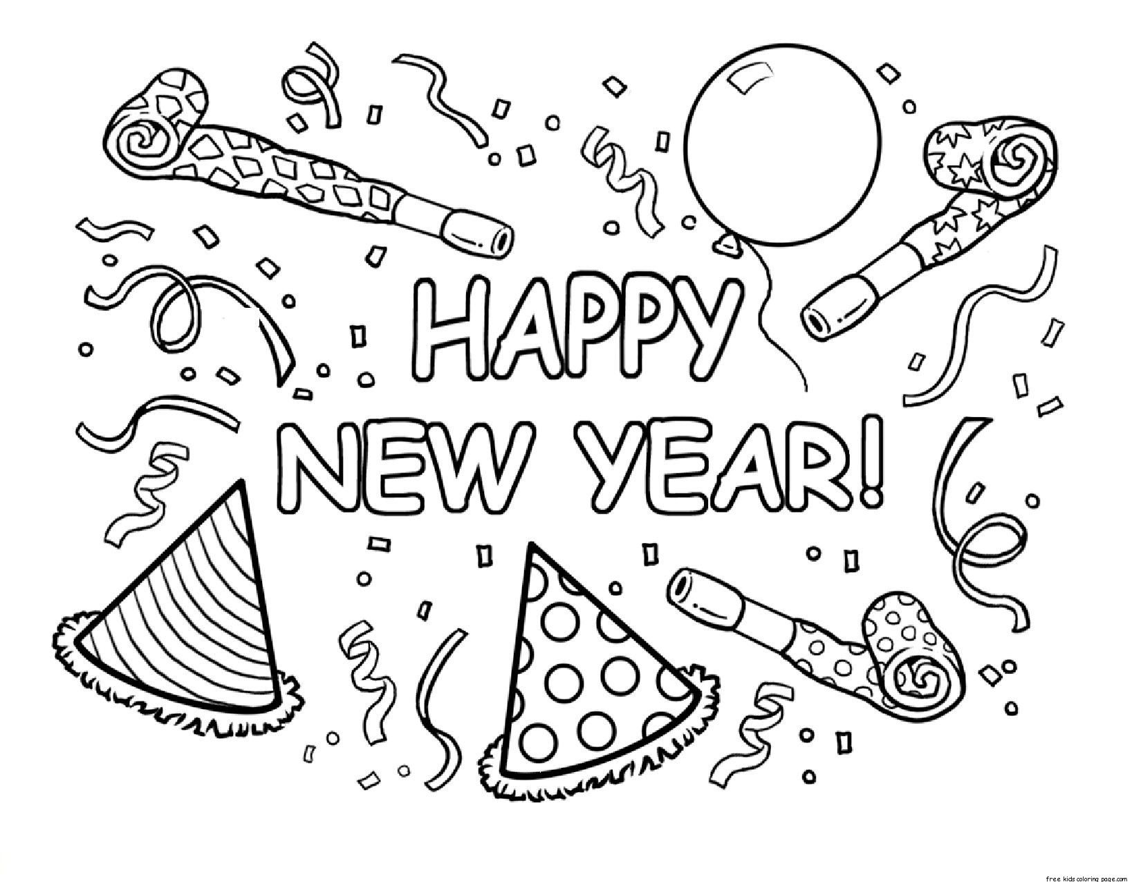 coloring holidays ideas new year for kids happy birthday theme remove sharpie from skin coloring pages Happy New Year 2019 Coloring Page