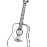 coloring musical instruments acoustic guitar christmas color for kids apps to printables coloring pages Coloring Page Guitar