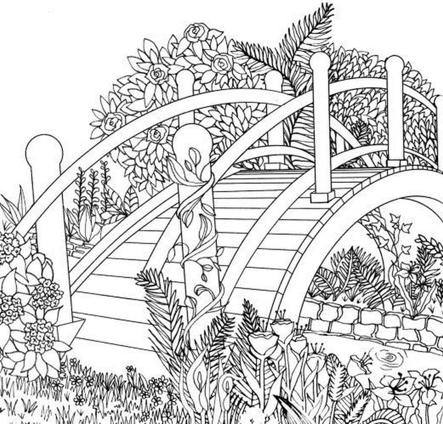 coloring nature landscape mountains sea adult colouring trejerr sheet crayola light box coloring pages Adult Coloring Page Nature