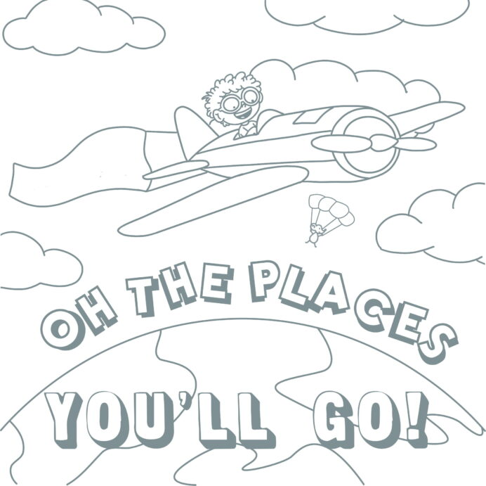 coloring open the joy oh places you ll go english holiday crackers ultimate crayon bucket coloring pages Oh The Places You'll Go Coloring Page