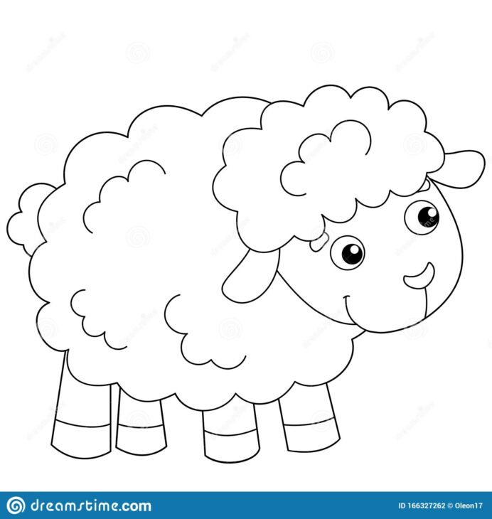 coloring outline of sheep or farm animals book for kids stock vector illustration horns coloring pages Coloring Page Sheep