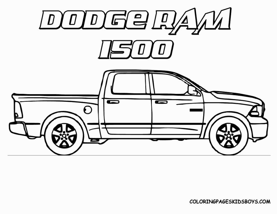 coloring pictures of trucks truck cars monster pick up preschool school supplies holiday coloring pages Pick Up Truck Coloring Page