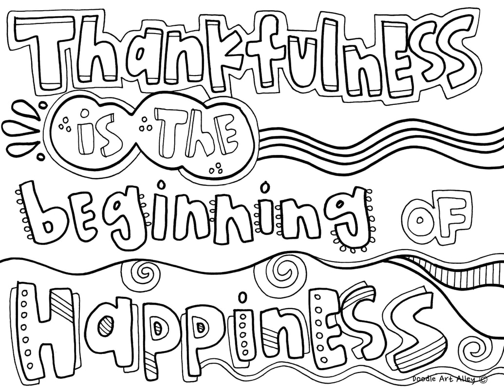 coloring thankful quotes doodle art alley am for my ears beginningofhappiness orig coloring pages I Am Thankful For My Ears Coloring Page