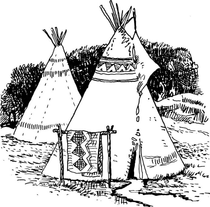 coloring tipi free printable tepee dl15936 minions outside my window art multicultural coloring pages Tepee Coloring Page