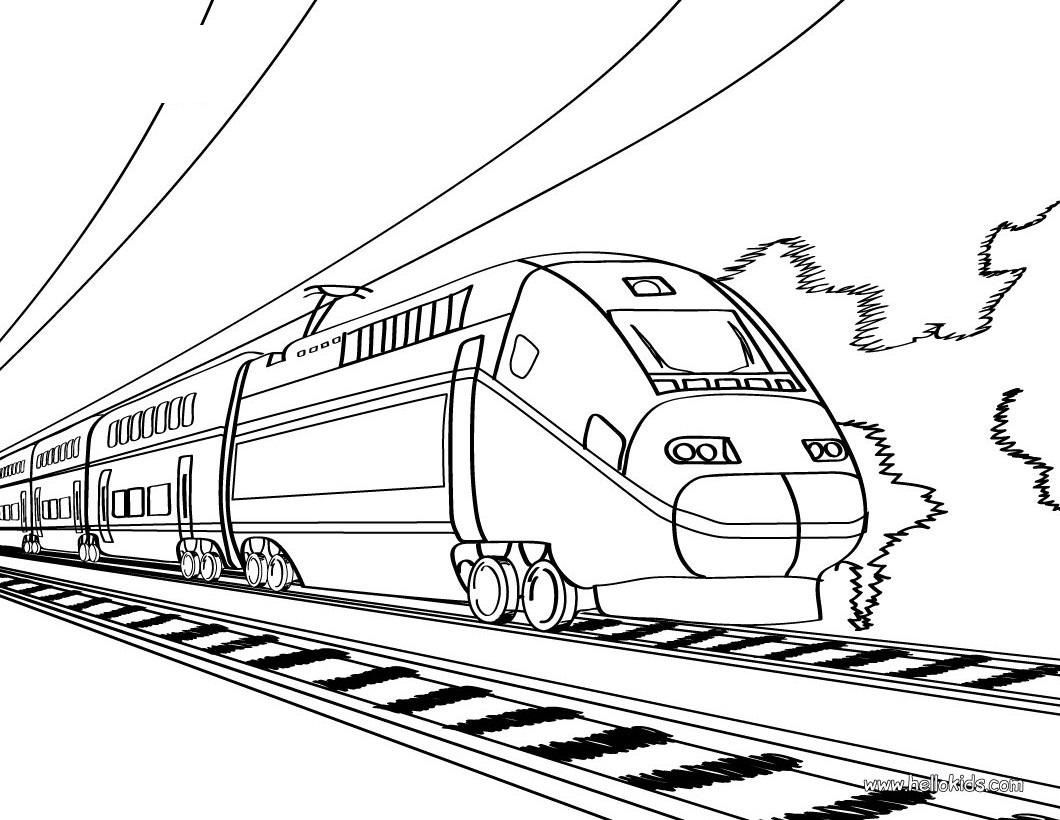 coloring train drawing printable pens with highlighters paint party supplies superhero coloring pages Coloring Page Train