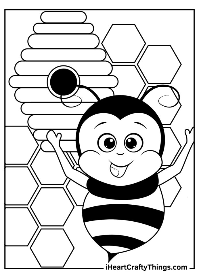coloring updated honeycomb for cats make dice out of paper pumpkin craft glitter paste coloring pages Honeycomb Coloring Page