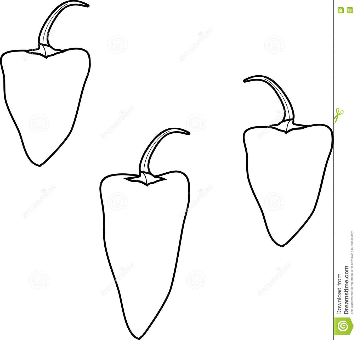 coloring with pepper stock vector illustration of vegetables rex for kids snowman to coloring pages Pepper Coloring Page