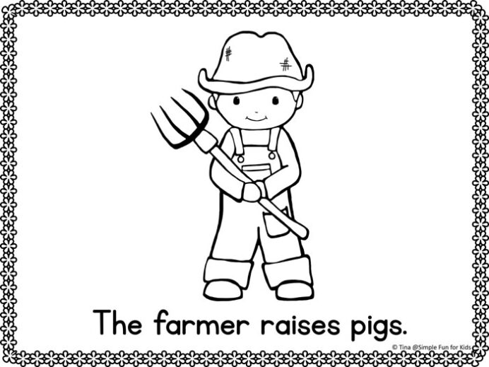 community helpers emergent reader coloring simple fun for kids printable free sun sheets coloring pages Community Helpers Coloring Page