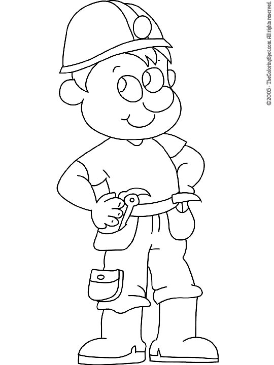 construction worker coloring audio stories for kids free colouring printables autom coloring pages Construction Worker Coloring Page
