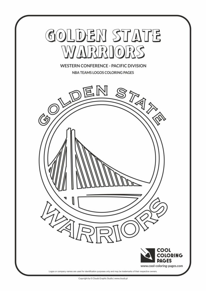 cool coloring golden state warriors nba basketball teams logos free educational and coloring pages Warriors Coloring Page