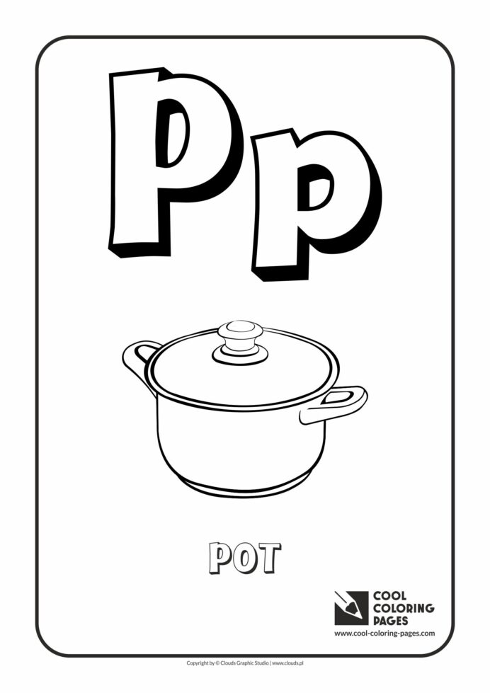 cool coloring letter alphabet free educational and activities for kids washable crayola coloring pages Letter P Coloring Page