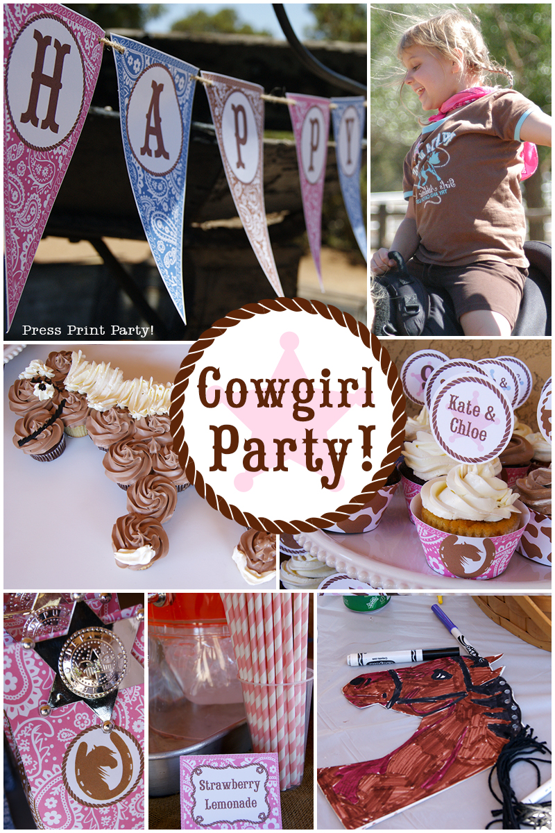 cowgirl birthday western party by press print free printable invitations fall leaves coloring pages Free Printable Cowgirl Birthday Invitations