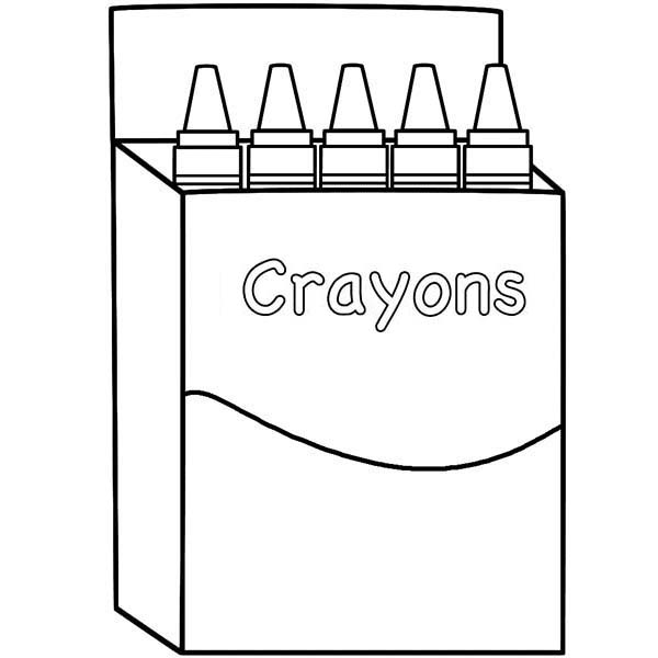 crayons box coloring sun crayon substitute plans visual arts rainbow book color pictures coloring pages Crayon Box Coloring Page
