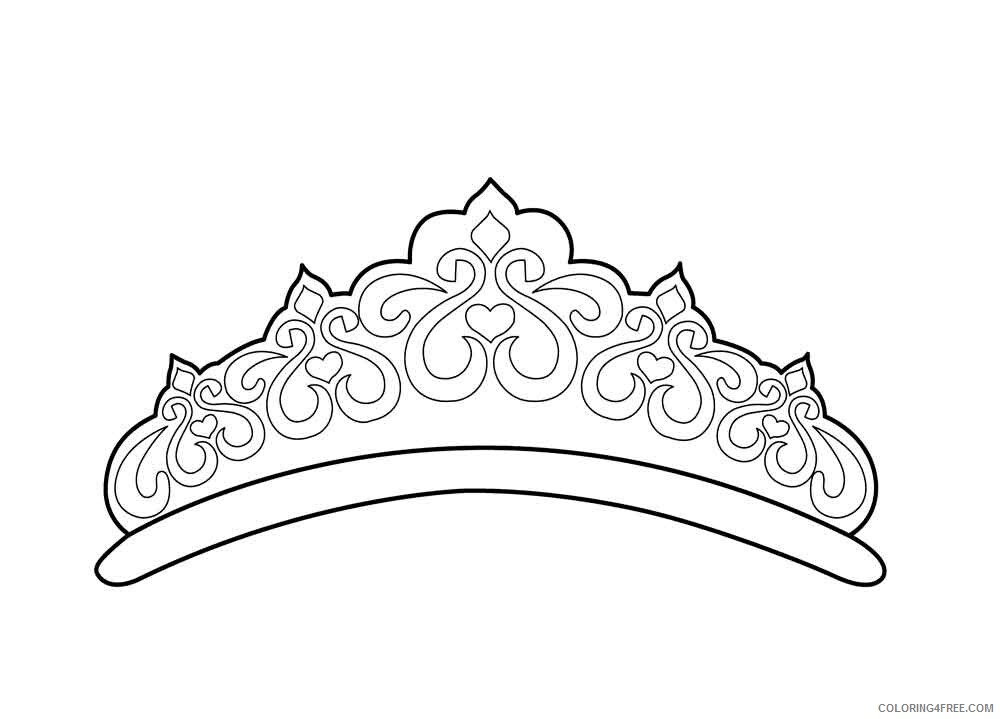 crown coloring printable coloring4free count blessings kids activity thanksgiving people coloring pages Coloring Page Crown