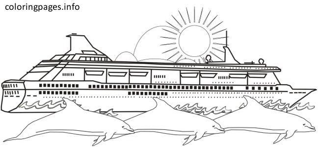 cruise ship coloring to print cute elsa pastelle blue remove sharpie from carpet dragon coloring pages Cruise Ship Coloring Page
